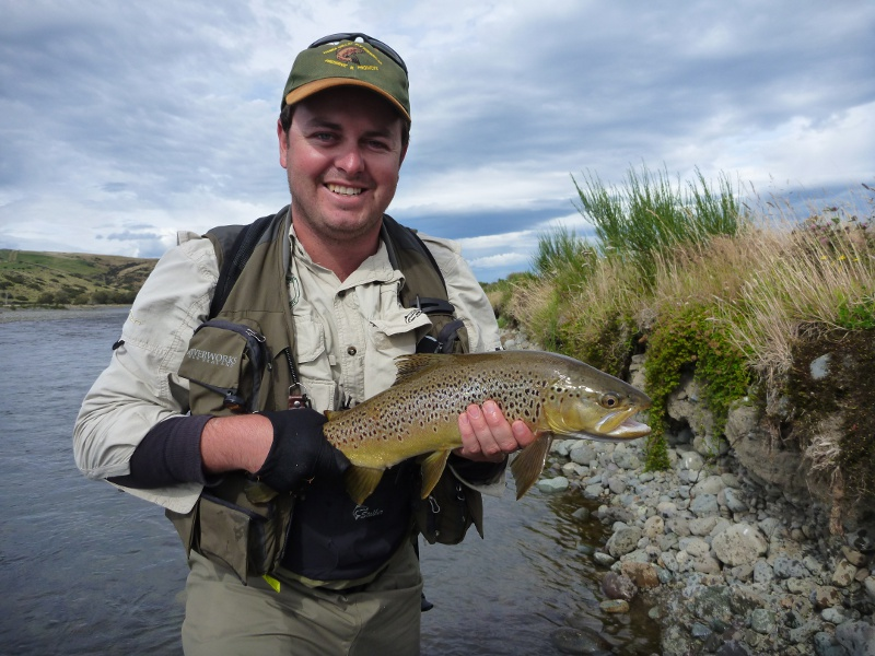 Darren Rogers from Australia with an Aparima Brown