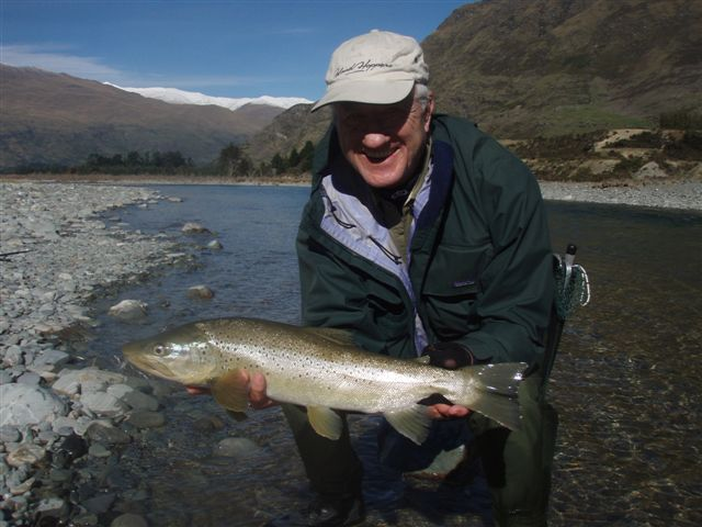John Lance ,Australia with an April Brown in the Lochy River